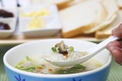 Stock Photo:pork rice or mush for breakfast Stock Images