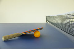 Stock Photo: Racket for tennis and a ball Stock Image