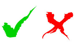 Stock photo: Red & Green Ticks. Red painted tick Stock Images
