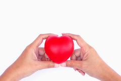 Stock Photo - Red heart in woman hand Royalty Free Stock Photo