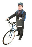 Stock Photo of Religious Missionary with Bicycle Stock Image