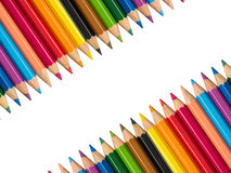 Stock Photo - The row of Multicolored Crayon,Frame with Crayon Stock Photography