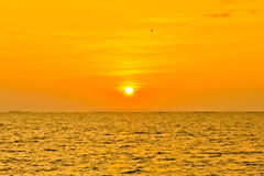 Stock Photo:Scenic view of beautiful sunset above the sea Royalty Free Stock Photos