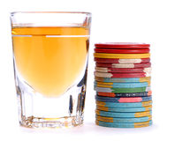 Stock Photo of Scotch and Chips royalty free stock photo