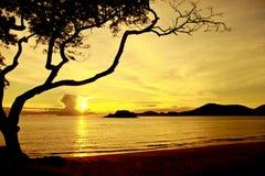 Stock Photo:sea beach silhouette thailand Royalty Free Stock Photography
