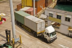 Container Handling Hong Kong royalty free stock photography