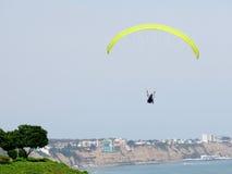 Stock Photo - Shot of the Green Coast beach in Lima-Peru Stock Photography