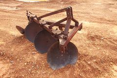 Stock Photo - shovels ancient and rusty of plow mechanical for t Stock Photography