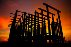 Stock Photo - silhouette of construction site Stock Image
