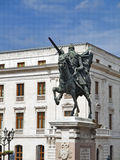 Stock Photo: Statue of el cid. Equestrian statue of the champions cid in burgos, Spain Stock Photography