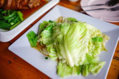 Stock Photo - stir-fried cabbage with fish sauce Royalty Free Stock Photo