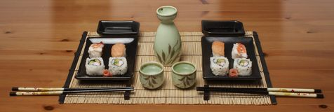 Stock Photo of a sushi. This is a stock photograph of sushi set Stock Photo