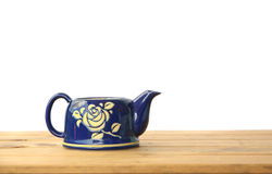 Stock Photo:Tea Kettle on wood table Stock Images