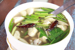 Stock Photo:Thai Cuisine and Food, A Bowl of Thai Clear Spicy H Stock Photography
