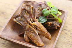 Stock Photo:Thailand fried food platypus Royalty Free Stock Photography