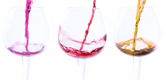 Stock photo of three wine glasses Stock Image