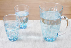 Stock photo of two glasses and a pitcher of water Stock Photo