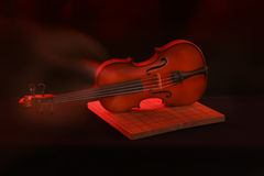 Stock Photo:Violin isolated on black Stock Photo