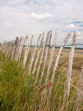 Stock Photo - wooden sea country fence up close leading along pa Stock Photo