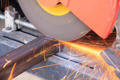 Stock Photo - Worker are cutting steel Royalty Free Stock Photo