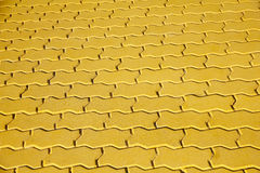 Stock Photo:Yellow brick paving stones on a sidewalk Stock Photo