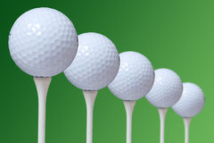 This is a stock photograph of 5 golf ball Stock Image