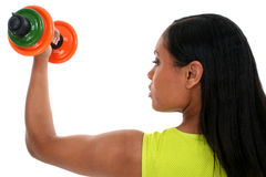 Stock Photography: Beautiful Woman Working Out With Dumbell Stock Photos