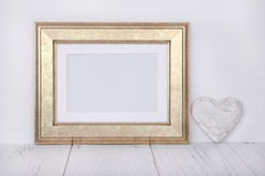 Stock photography golden picture frame craft decoration mock up stock photo