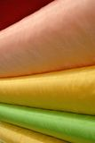 Stock photos of colorful curtain fabrics Royalty Free Stock Photography