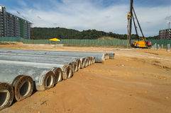 Stock pile. At  construction site Royalty Free Stock Photos