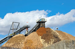 Stock Pile of Saw Dust Stock Photos
