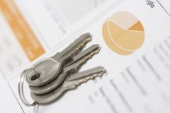 Stock portfolio and bunch of keys stock images