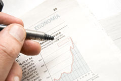 Stock price chart Royalty Free Stock Image
