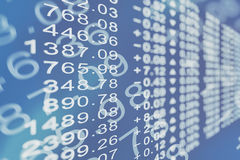 Stock price chart Stock Images