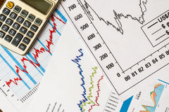 The stock price, to calculate the result Royalty Free Stock Photography