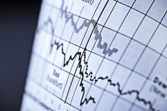 Stock prices Royalty Free Stock Photo