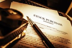 Stock Purchase Agreement Royalty Free Stock Photo