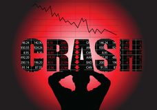 Stock Market Crash stock illustration