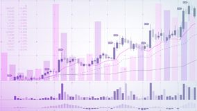 Stock Exchange. Financial market. Schematic graphic representation of currency fluctuations on a light background. stock illustration