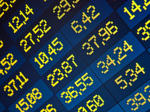 Stock Quotes at real time at the stock exchange. Financial data- stock exchange online computer screen royalty free stock image