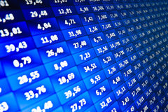 Stock Quotes at real time at the stock exchange Stock Images