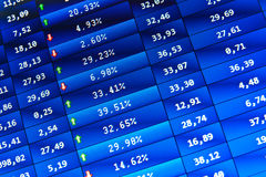Stock Quotes at real time at the stock exchange Stock Photos