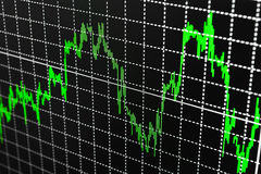 Stock Quotes at real time at the stock exchange Royalty Free Stock Photography