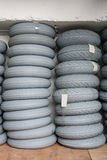 Stock of rubber tires for scooters Royalty Free Stock Photos