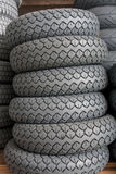Stock of rubber tires for scooters Royalty Free Stock Image