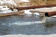 Stock, sea, pipe, draining, ecology, sanitation, pollution Stock Image