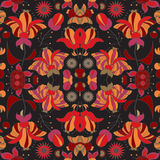 Stock  seamless doodle  floral pattern. orient. abstract b Stock Photography