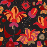 Stock  seamless doodle  floral pattern. orient. abstract  Stock Photo