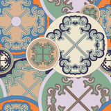 Stock  seamless doodle floral pattern. orient. boho Stock Photography