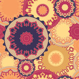 Stock  seamless doodle floral pattern. orient. boho Stock Images